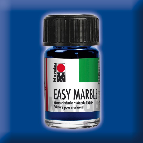 Easy Marble 15ml ultramarinblau dkl. Marmorierfarbe