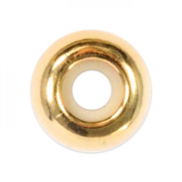 Metallperle mit Silikoneinlage 8x4mm goldfarben Lochgr. ca. 2,5mm