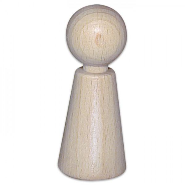 Figurenkegel mit Hals Holz Ø 23mm 60mm 15 St. natur aus Buchenholz, konisch