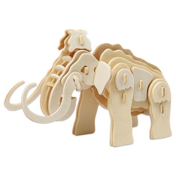 Holzbausatz Mammut ca. 19x8x11cm 39 Teile vorgestanzt, zum Zusammenstecken