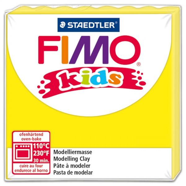 FIMO kids 55x55x10mm 42g gelb ofenhärtende Modelliermasse