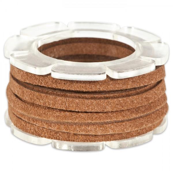Veloursband textil 1,5 stark 3mm 2m dunkelbraun 50% Polyamid, 50% Nylon