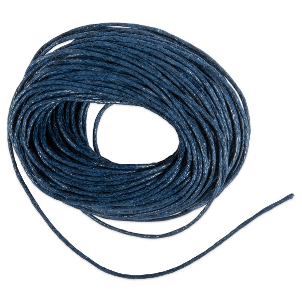 Kordel gewachst 1mm 10m dunkelblau 50% Baumwolle, 50% Polyester