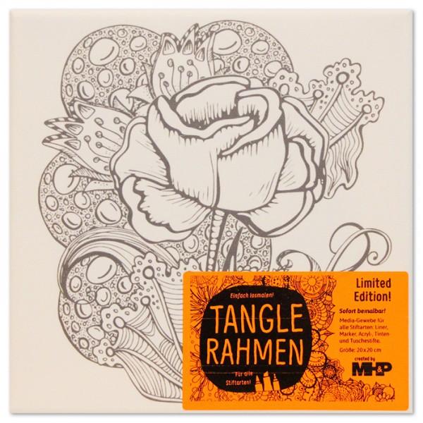 Tangle-Keilrahmen 20x20x2cm Rose