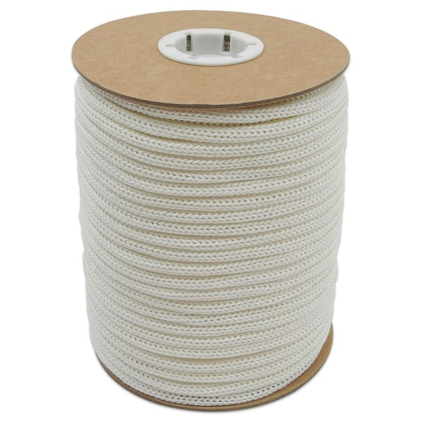 Makramee-Garn - Kordel aus Papier 4mm 30m weiß aus recyceltem Material