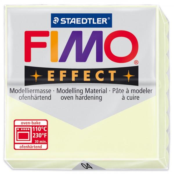 FIMO effect 55x55x15mm 57g Nachtleuchtfarbe ofenhärtende Modelliermasse