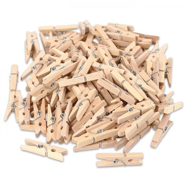 Mini-Klammern Holz 30x3mm 100 St. natur