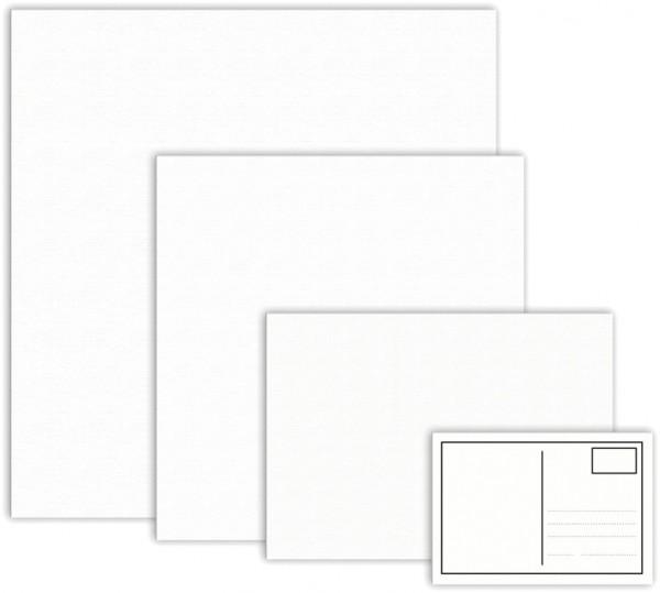 Malkarton mit Maltuch 3mm stark 20x20cm weiß Baumwolle, grundiert