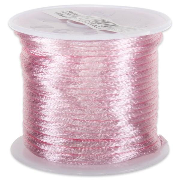 Seidenschnur glänzend 2mm 5m rosa 100% Polyester
