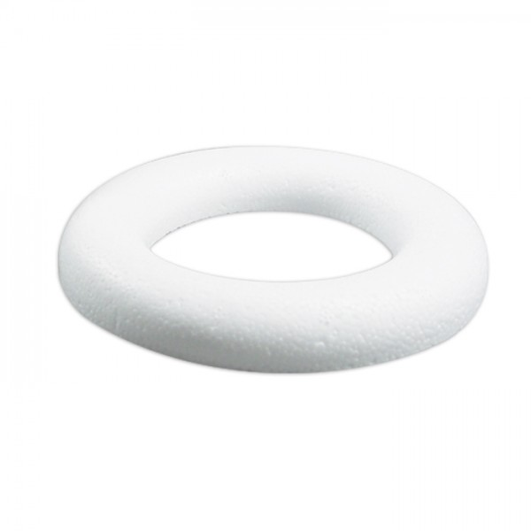 Styropor-Ring weiß flach Ø 12cm