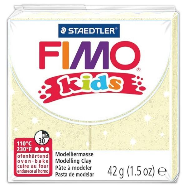 FIMO kids 55x55x10mm 42g pearl yellow ofenhärtende Modelliermasse