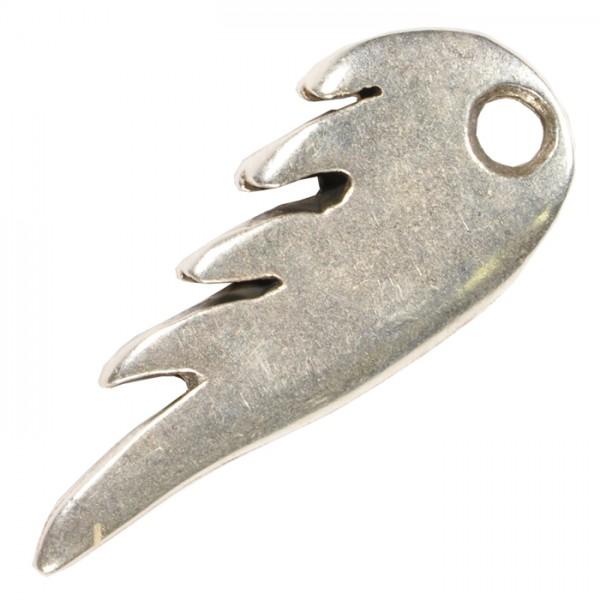 Metallanhänger Flügel 25x10mm altplatinfarben Lochgr. ca. 3mm