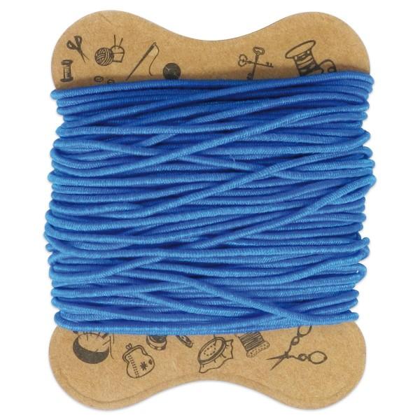 elastische Kordel 0,8mm 10m blau Kunstfaser