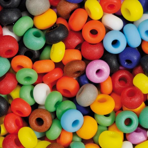 Rocailles satt matt 2,6mm 17g mix Glas, Lochgr. ca. 0,7mm