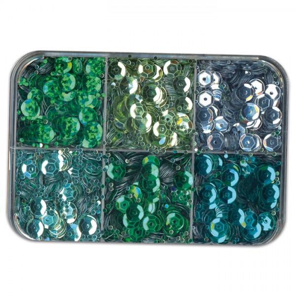 Pailletten 6,5mm 50g grün Kunststoff