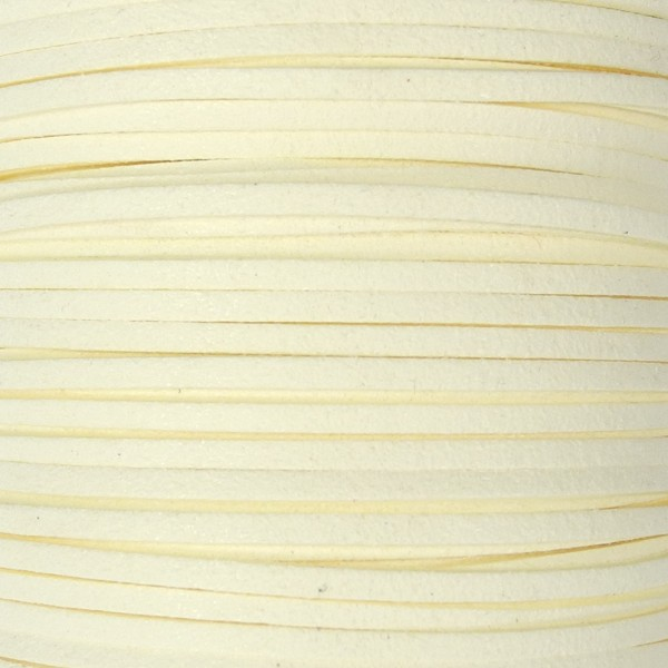 Veloursband textil 1,5 stark 3mm breit 5m creme 100% Polyester
