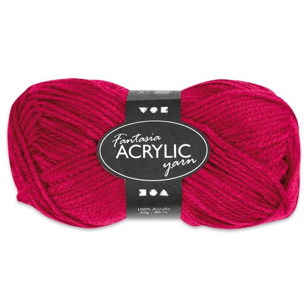 Fantasia Acryl-Wolle 50g fuchsia 100% Polyacryl, für Nadel Nr. 4