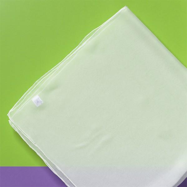 Tuch Chiffon 3,5 90x90cm naturweiß 100% Seide