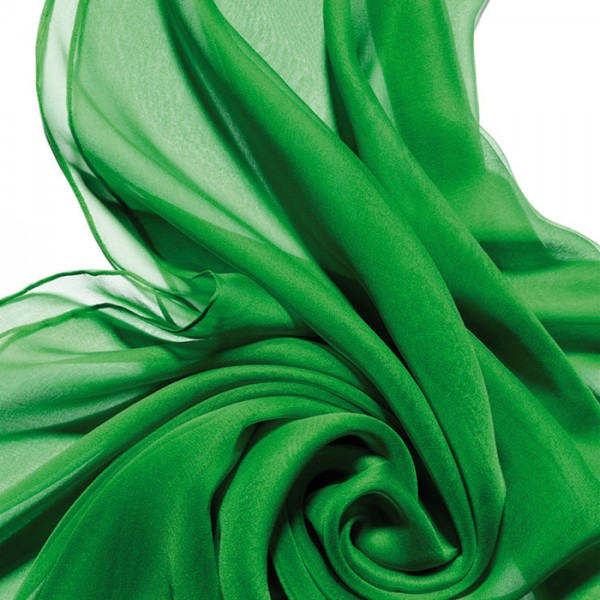 Schal Chiffon 3,5 55x180cm minzgrün 100% Seide