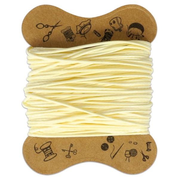 Kordel gewachst 0,5mm 10m creme 90 % Polyesterfaser/10 % Baumwolle