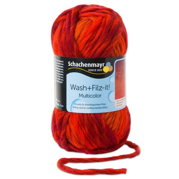 Wash+Filz-it Filzwolle multicolor 50g romance 100% Wolle, LL 50m, Nadel Nr. 8-9