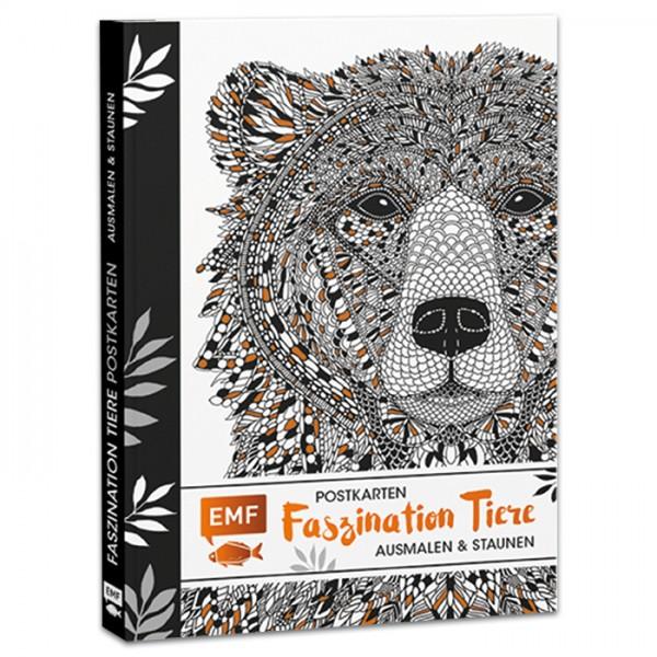 Buch - Postkarten - Faszination Tiere: Ausmalen & Staunen 20 Seiten, 17x12cm, Softcover