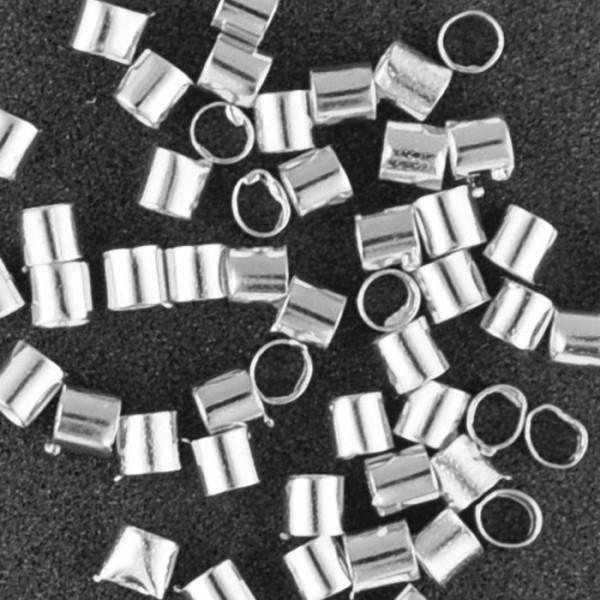 Quetschröhrchen Metall 1,2mm 1,4g platinfarben