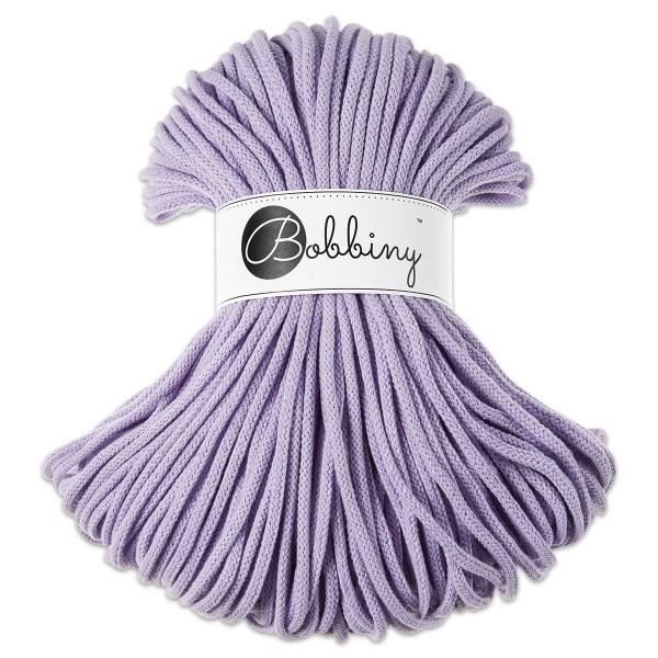 Bobbiny Rope-Garn Premium Ø5mm lavender ca. 400g-500g, 100% Baumwolle, LL 100m, Nadel Nr. 10-12