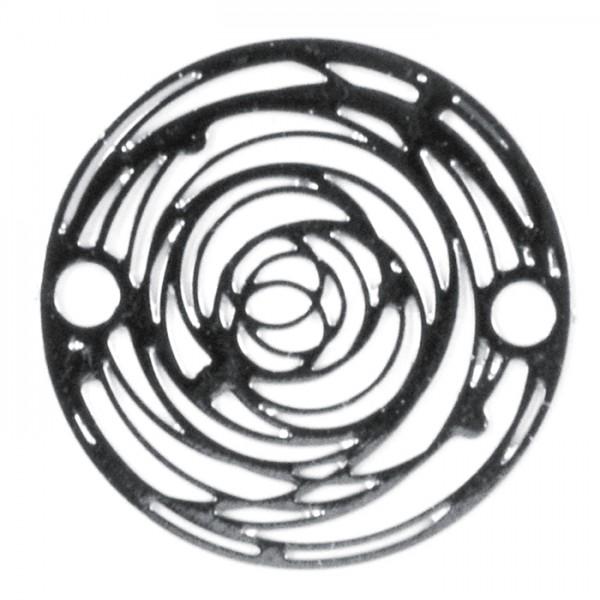Metallzwischenteil Rund ca. 15mm platinfarben Lochgröße ca. 1,5mm