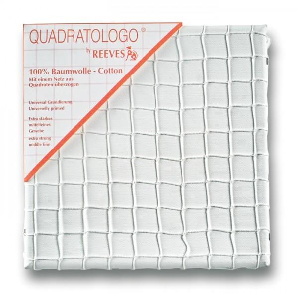 Quadratologo Keilrahmen mit Netz 20x20cm