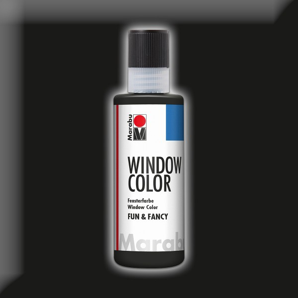 Marabu fun&fancy 80ml schwarz Windowcolor