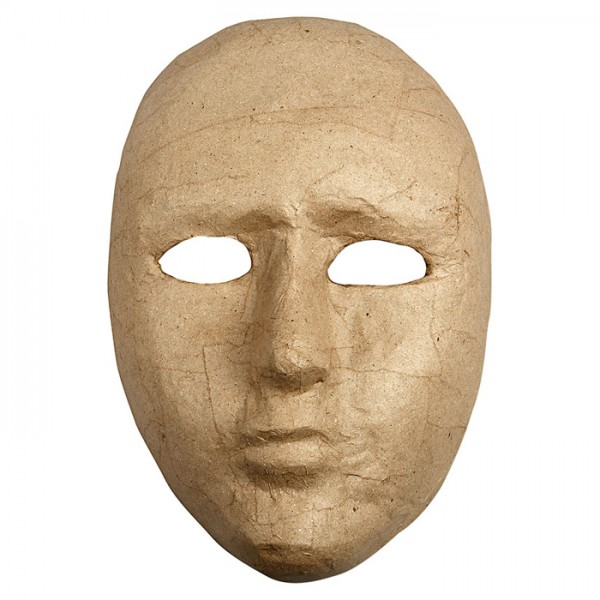 Maske groß Pappmaché 23x16cm