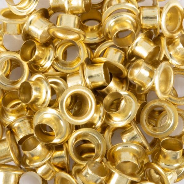 Ösen Metall 5mm ca. 100 St. vermessingt passende Ösenzange Art.-Nr. 50265165