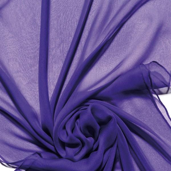 Schal Chiffon 3,5 55x180cm violett 100% Seide