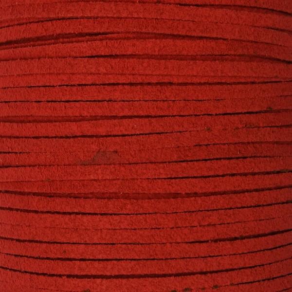 Veloursband textil 1,5 stark 3mm breit 5m rot 100% Polyester