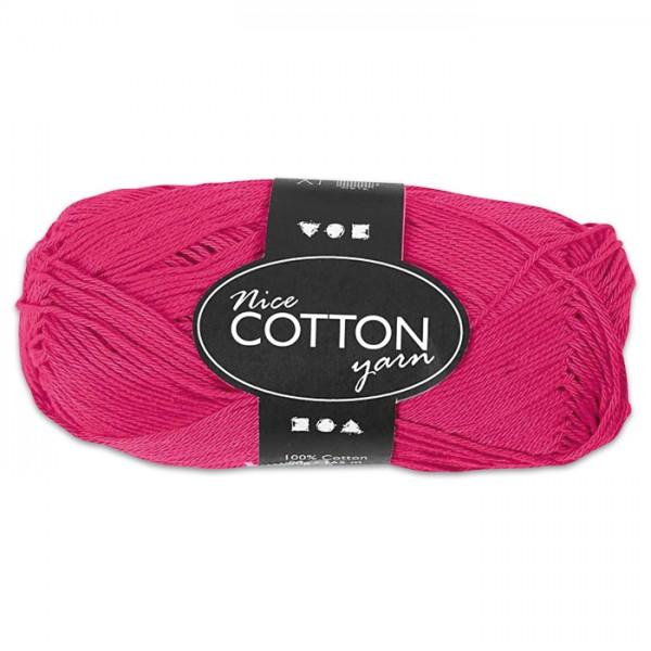 Baumwollgarn 50g pink 100% Baumwolle, für Nadel Nr. 3-3,5