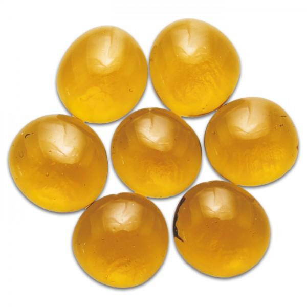Glasnuggets Ø15-20mm 100g gelb ca. 20-25 Steine