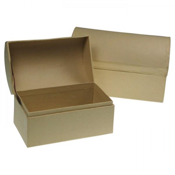 Runddeckeltruhe Pappe 2er-Set h7cm 11x6,5cm; h8cm 13,8x9cm