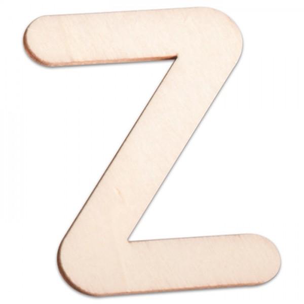Holzbuchstabe Z ca. 3mm 6cm hoch natur