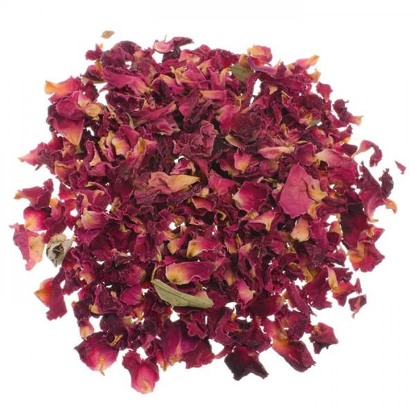 getrocknete Blüten 3g Rosenblüten rot geschnitten