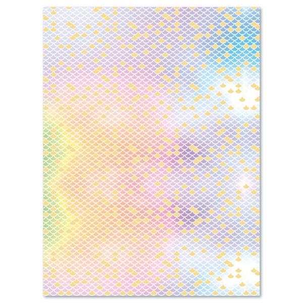 Decoupagepapier Texture Schuppen Pastelltöne von Décopatch, 30x40cm, mit Metalliceffekt
