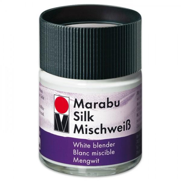 Marabu Silk 50ml Mischweiß für Seidenmalfarbe