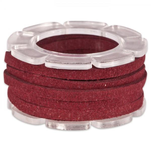Veloursband textil 1,5 stark 3mm breit 2m weinrot 50% Polyamid, 50% Nylon