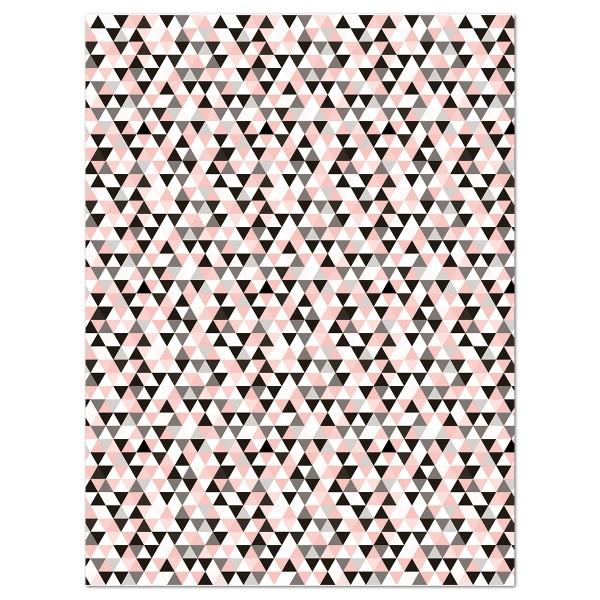 Decoupagepapier Dreiecke kupferf./schwarz/weiß von Décopatch, 30x40cm, 20g/m²