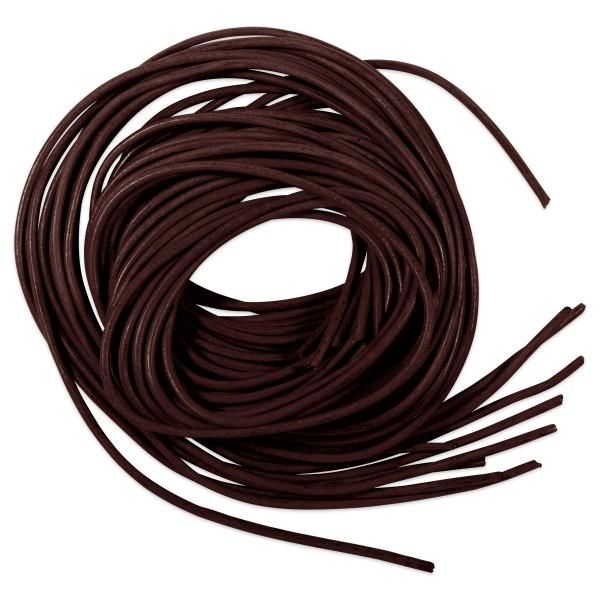 Lederriemchen rund 1-1,5mm 1m 10 St dunkelbraun Rindsleder