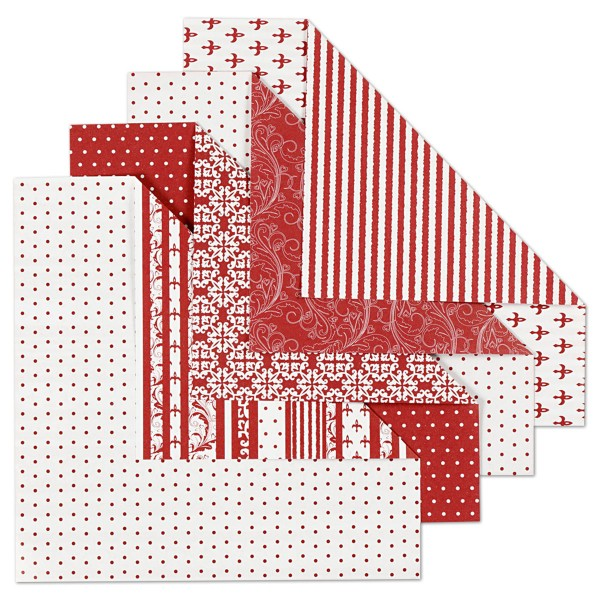 Origami-Papier 15x15cm 50 Bl. Copenhagen 80g/m², 4 Designs