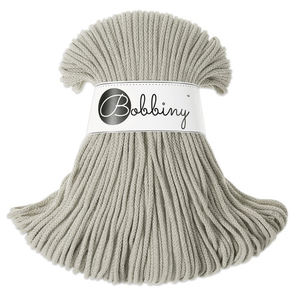 Bobbiny Rope-Garn Junior Ø3mm beige ca. 200g-300g, 100% Baumwolle, LL 100m
