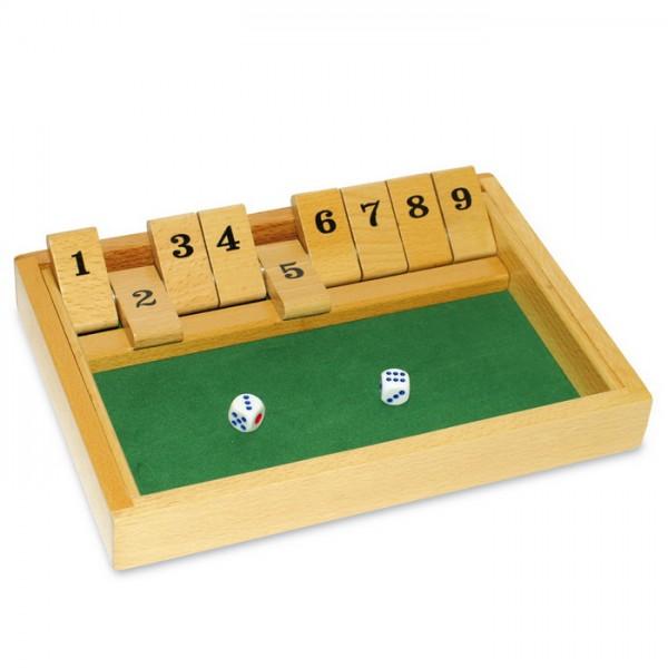 Spiel - Shut the Box Holz 26x17x3cm ab 6 Jahren
