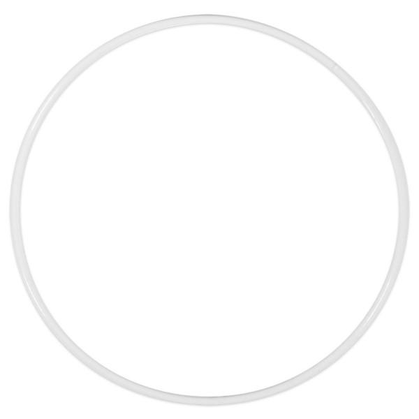 Metallring/Drahtring rund weiß 3mm Ø 15cm