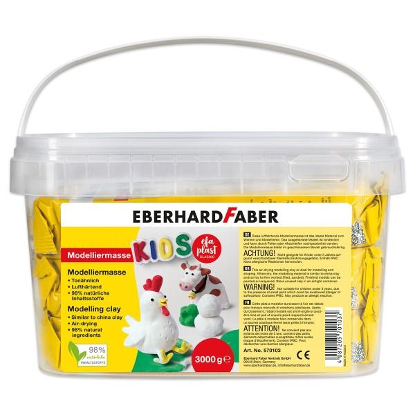 EFA Plast classic KIDS Modelliermasse 3kg weiß